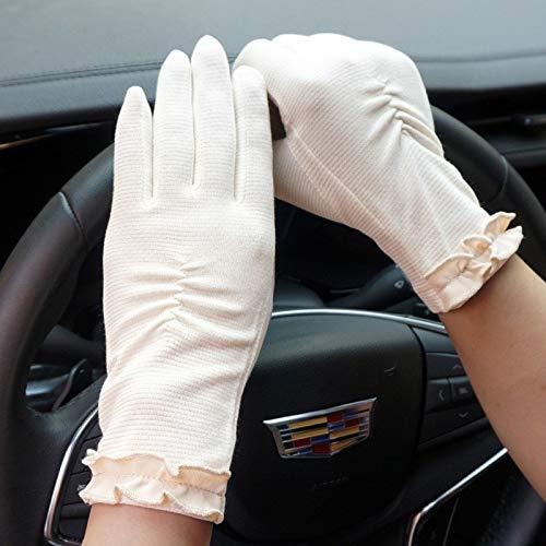 Frühling und Sommer-Golf-Handschuhe, Damen-Sun-Schutzhandschuhe, Handschuhe Damen Sonnenschutz schweißabsorbierend und schnelltrocknend Dünnschliffbreath Striped Touchscreen Sonnenschutz Anti-Rutsch-A