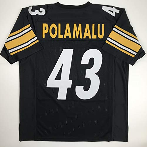 Unsigned Troy Polamalu Pittsburgh Black Custom Stitched Football Jersey Size Men's XL New No Brands/Logos
