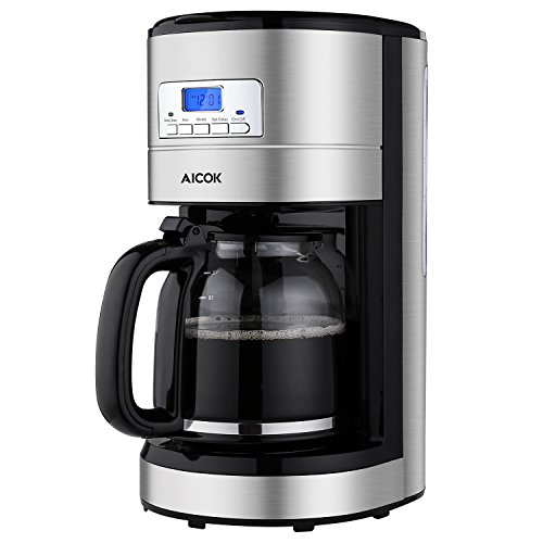 Coffee Maker, Aicok 12 Cup Coffee Maker, Coffee Maker Programmable, Coffee Pot, Coffee Filter, Drip...