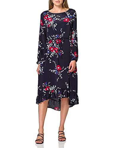 Marc O'Polo Damen 907085021165 Kleid, Blau (Combo A18), (Herstellergröße: 38)