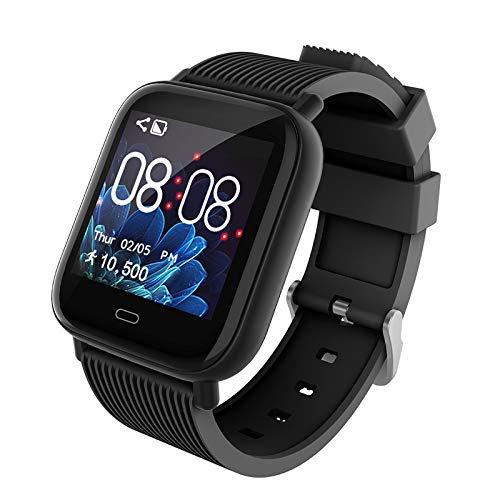 SKMEI - Reloj inteligente para mujer, con monitor de ritmo cardíaco, resistente al agua, con presión arterial, oxígeno en la sangre, monitor de sueño, smartwatch compatible con...