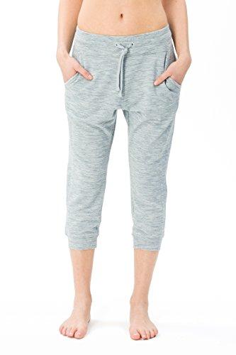 super. Natural Femme W Essential Crop Pants Pantalon Sport en Laine mérinos et Yoga XL Mélange de Bleus