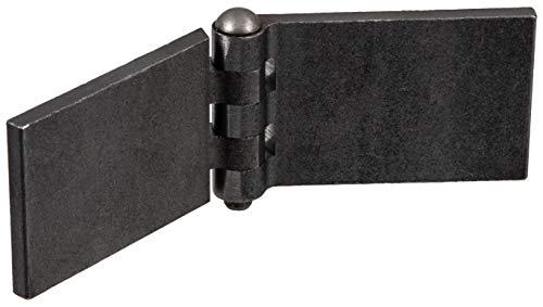 Gedotec Türscharnier zum anschweißen Anschweißband für Metall-Türen | Schwerlast-Scharnier für Gartentor & Maschinen | Anschweißscharnier Höhe: 60 mm | 1 Stück -...