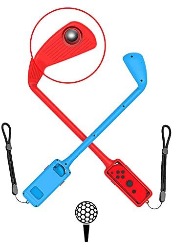 MAXKU Mario Golf Super Rush Club Zubehör, Mario Golf Spielzubehör, Passend für Nintendo Switch Joy-Con Steuerung Rund um Das Doppelpack (Rot + Blau)
