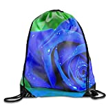 uykjuykj Bolsos De Gimnasio,Mochilas,Drawstring Backpack Purple Rose Sports Gym Waterproof String Bag Cinch Sack Sackpack Gymsack Purple rose6 Lightweight Unique 17x14 IN