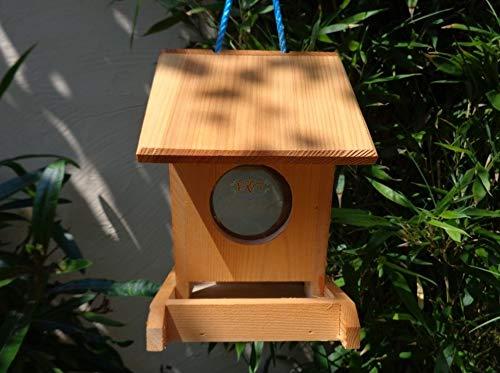 Futterhaus BTV-VOFU1K-hbraun001 PREMIUM Vogelhaus Futterstation hellbraun braun XXXL Nistkasten als Ergänzung zum Meisen Nistkasten Meisenkasten oder zum Insektenhotel, Futterstelle für Vögel, Vogelhäuschen / Vogelvilla zum Hängen und Aufstellen von BTV