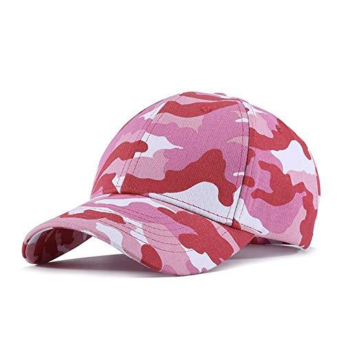Baseball Kappe Women Camouflage Snapback Cap Pink Hiphop Baseball Caps Rose Cap Hiphop Sport Hat Cap Hip-Hop Street Dance Hat for Women Firs55To58Cmhead Baseballcap