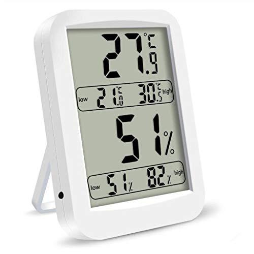 Hörsein Hoge precisie digitale elektronische temperatuur en vochtigheid meter indoor groot scherm met display hoge en lage temperatuur hygrometer opslag geheugen thermometer