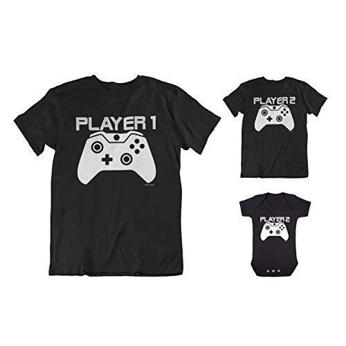 buzz shirts Matching Family T-Shirt Set - Player 1, Player 2, Player 3, Player 4 - Made from Organic Cotton