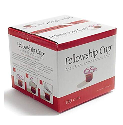 B&H Publishing Group Fellowship Cup,Prefilled Communion Cups juice/wafer-100 Cups (net wt.1.62 lb)