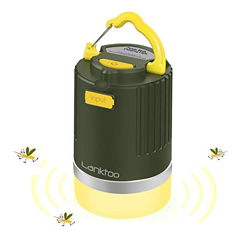 Lanktoo LEDランタン 充電式 usb 蚊よけ キャンプ ランタン 12800mAhモバイルバッテリー 防災 夜釣り