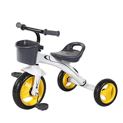 GYF Triciclo del Cochecito De Bebé Portátil 1-3-2-6 Juguete Antiguo Años Niños Bicicleta Asiento Portable del Bebé De Juguete De Regalo (Color : Yellow)