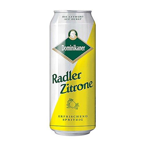 Dominikaner Radler Zitrone - 24 x 0,5 l Dose (2.5 Vol. %) - Bier-Limonaden Mischgetränk