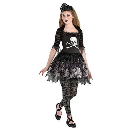 amscan 9904993 Girls Zombie Ballerina Halloween Fancy Dress Costume Age 12-14 Years
