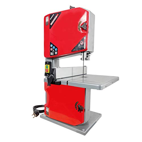 Crossfer Bandsäge BS205 (250 Watt, max. Schnitthhöhe 80mm, Durchlassbreite 195mm, 45° schwenkbarer Arbeitstisch, inkl. Parallelanschlag, inkl. Werkstückschieber)
