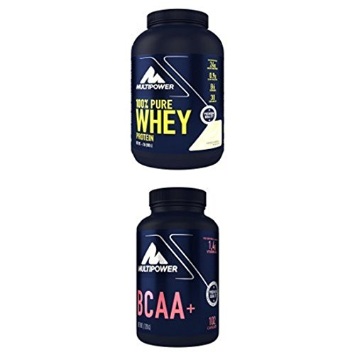 Before-After Bundle: Multipower 100% Pure Whey Protein Vanille (900g) & Multipower BCAA (102 Kapseln) (122 g)