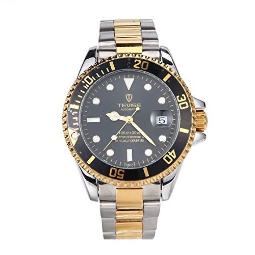 BlackPJenny TEVISE T801 Men Automatic Mechanical Watch Fashion Luminous...