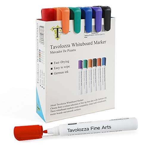 Tavolozza 12 Rotuladores Para Pizarra Blanca con Punta Redonda de color con tinta de bajo olor para la escuela u oficina