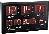 Lunartec LED Funkuhr: LED-Funk-Tisch- und Wanduhr mit Datum und Temperatur, 412 rote LEDs (Funkwanduhren)