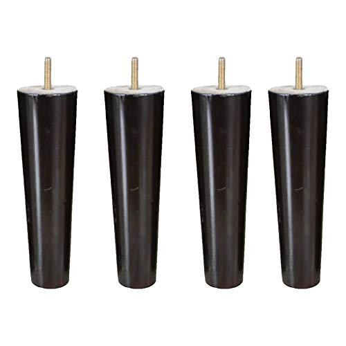 4pcs Tapered Solid Wood Furniture Sofa Legs Wooden Furniture Legs Solid Wood Table Legs-black, 5 Inches High