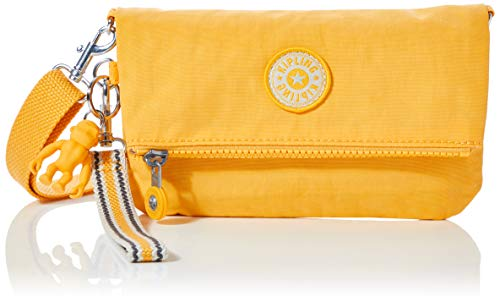 Kipling Lynne, Bolso Con Bandolera para Mujer, Amarillo (Vivid Yellow), 20x12.5x2.5 cm