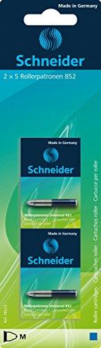 Schneider Rollerpatrone Universal 852 (löschbar, für Patronenroller Breeze, Base Senso/Ball und ID Duo) 6 x 5 Stück Tinte: königsblau