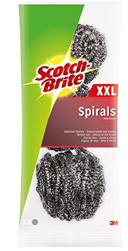 Scotch-Brite ISX3 roestvrijstalen spiraal, groot, slijtsterk, 3 stuks