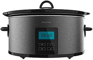 Olla de cocción lenta - Cecotec Chup Chup Matic, Cerámica, 5.5 l, Programable 24h, Temporizador, Inox