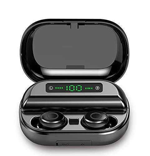 Bluetooth 5.0 Headset, TWS Touch Headset CVC8.0 In-ear Muziek Oordoppen, True Draadloze 8D Headset Voor 4 Uur Van Continue Talk, Zwart