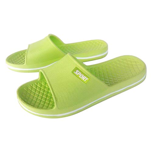 MIRRAY Soft Flip Flop for Unisex Flat Home Bathroom Slip On Sandals Plus Size 36-44 Men Women's Casual Slides Green