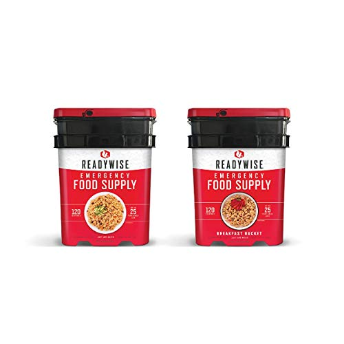 Wise Company Long Term Emergency Food Supply, Breakfast and Entree Variety, Two-120 Serving Buckets (240 Total Servings)