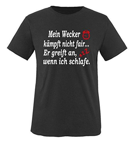 Funshirts-Company Mein-réveil Lutte Pas équitable t-Shirt pour Enfant Taille de 86 à 164 cm (différents Coloris) - Noir - S