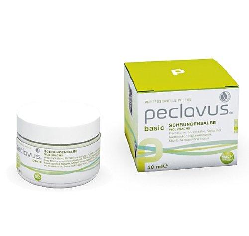 Peclavus Basic Schrundensalbe Propolis u. Canaubawachs, Salbe gegen Hornhaut und Risse an der Fußhaut, 50 ml
