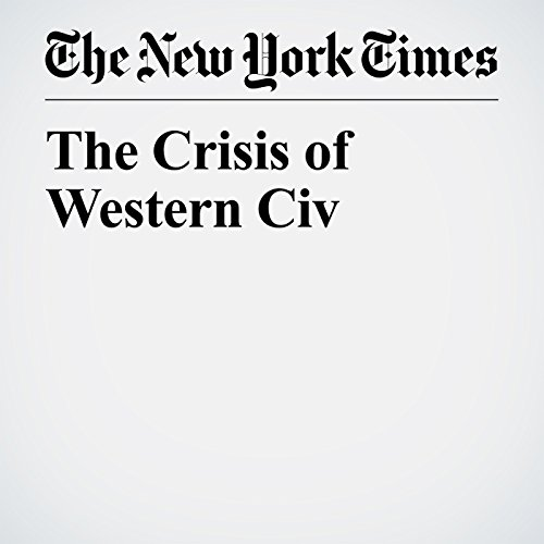 The Crisis of Western Civ copertina