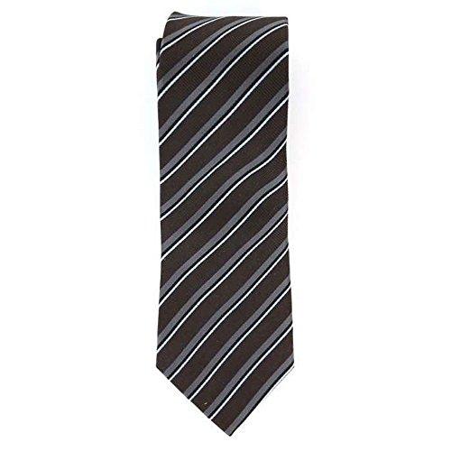 Cotton Park - Cravate 100% soie marron - Homme