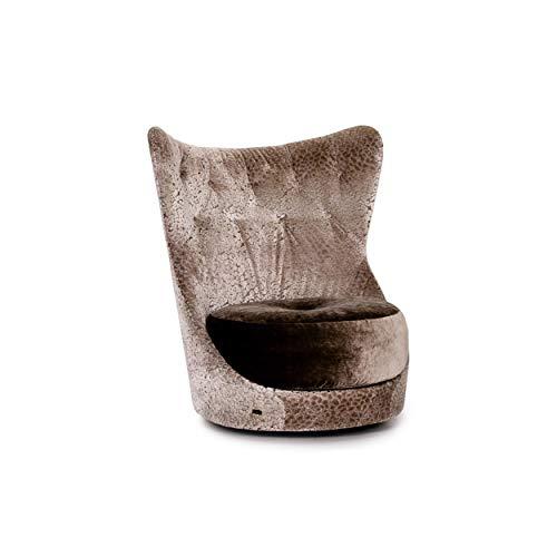 Bretz Cocoa Island Samt Stoff Sofa Grau Silber # 13732