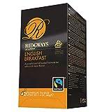Ridgways of London English Breakfast Té Nero Colazione Inglese Potente e Pieno Equosolidale ed Avvolgente - 1 x 20 Bustine di Tè (40 Grammi)