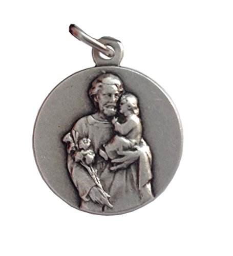 SAINT JOSEPH ( HUSBAND OF THE HOLY VIRGIN MARY ) MEDAL - 100% MADE IN ITALY (St. Joseph Round Shape)