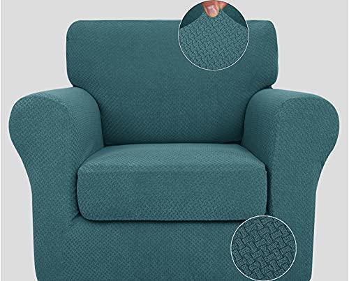 Cubiertas de Alto Estiramiento Sofá, Ultra Tapa Blanda con Estilo del sofá...