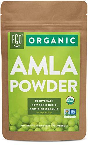 Organic Amla Powder (Amalaki)   16oz Resealable Kraft Bag (1lb)   100% Raw From India   by FGO