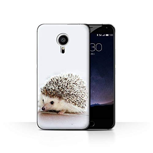 Handy Hülle kompatibel mit Meizu Pro 5 Süß Baby Tier Fotos Kleiner Igel Hoglet Transparent Klar Ultra Dünne Handyhülle Hülle Cover