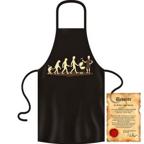 bedrukte fun grill schort - Thema: Homo Stupidus: Griller - Grill kookschort Kerstmis Advent Sinterklaas keuken winter