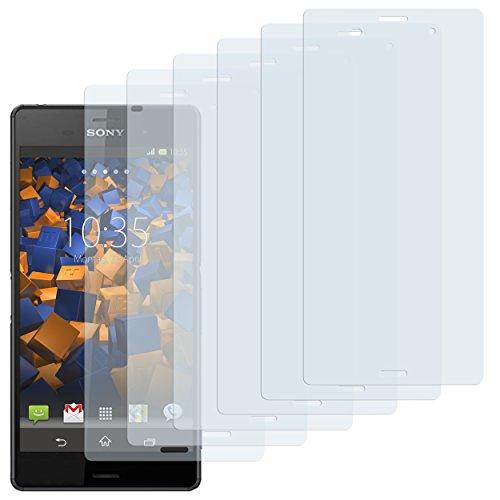 mumbi Schutzfolie kompatibel mit Sony Xperia Z3 Folie, Xperia Z3 Dual Folie klar, Bildschirmschutzfolie (6X)