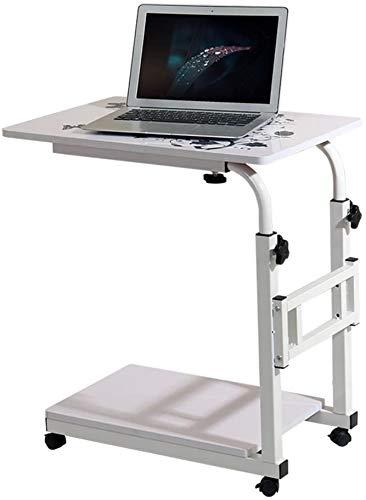 HOMRanger Mobile Laptop Desk Comodino Computer Supporto da Tavolo, Simple Home Writing Desk Mobile Care Tavolo Regolabile in Altezza Tavolino (Colore: Bianco)