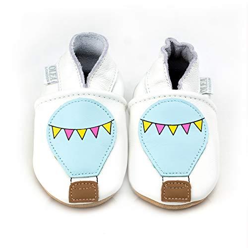 Zapatos de bebé de cuero suave globo de aire caliente 6-12 meses