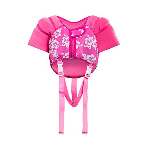 Zeraty Kids Zwemvest Float Jacket - Peuter Training Aids voor 1-5 Jaar Oude Jongens Meisjes Leer-naar-Swim Opblaasbare Zwemkleding Blauw Roze