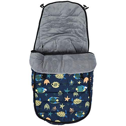 NUOBESTY Saco de dormir universal para cochecito de bebé, grueso y de viaje, saco de dormir de felpa, funda de cojín para saco de dormir