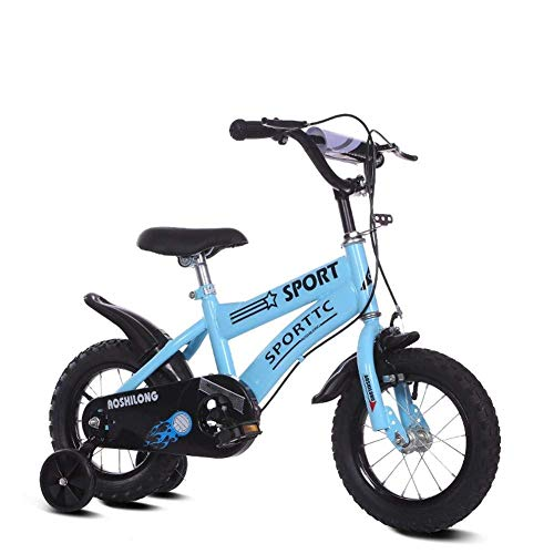 """nobrand Kinderfahrräder mit Stabilisatoren Klapprad Fahrräder Kinderfahrrad 12/14/16/18 Zoll Fahrrad 2-3-5-7 Jahre alt Jungen und Mädchen Schüler-Kinderwagen-Kinderfahrrad (Size : 14\"""")"""