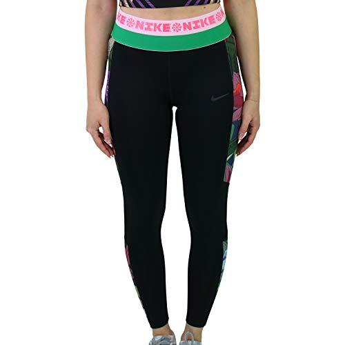 Nike Damen Icon Clash Pro PRT Tights, Black/Bright Crimson/Dk Smoke, L