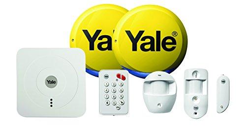 Yale SR-330 Blanco Sistema de Alarma de Seguridad - Sistemas de Alarma de Seguridad (104 dB, Blanco, Botones, 1 Pieza(s), 1 Pieza(s), Sensor infrarrojo pasivo (PIR))